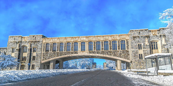 Wall Art - Photograph - Virginia Tech Campus Torgersen Hall Snowy Day by Betsy Knapp