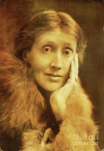 Poetry Painting - Virginia Woolf, Literary Legend By Mary Bassett by Mary Bassett