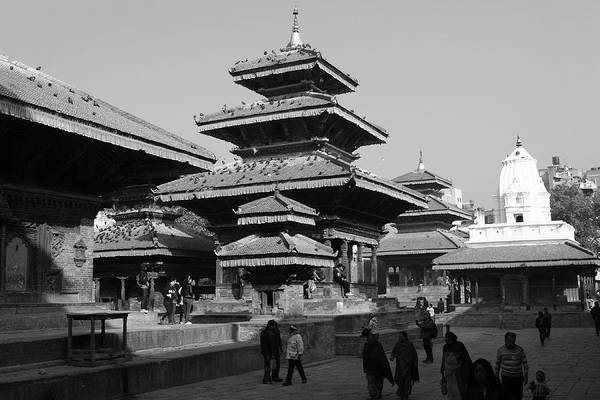 Photograph - Vishnu Temple, Durbar Square, Kathmandu by Aidan Moran