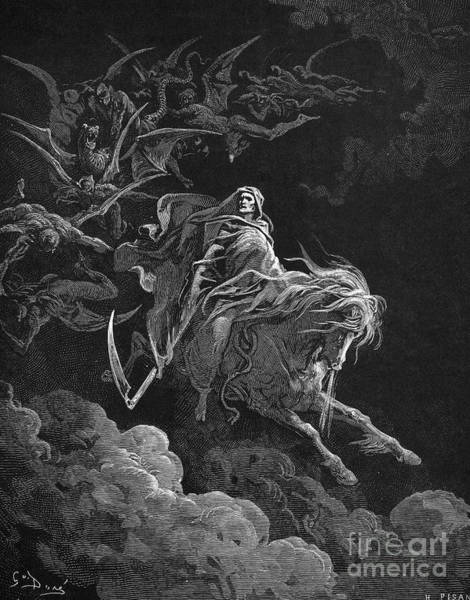 Drawing - Vision Of Death by Gustave Dore