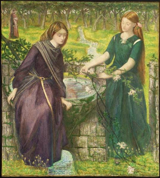 Gabriel Painting - Vision Of Rachel And Leah by Dante Gabriel Rossetti
