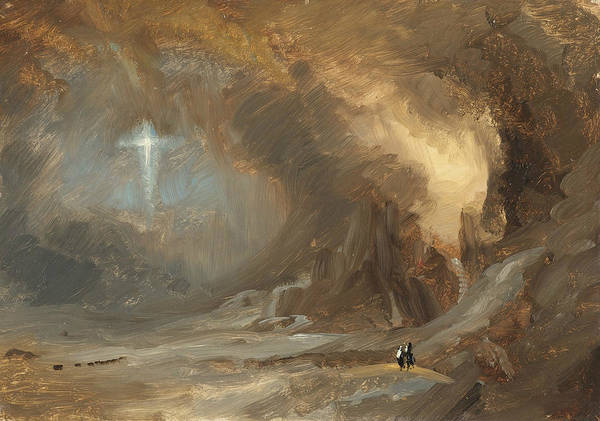 Church Of The Cross Painting - Vision Of The Cross by Frederic Edwin Church