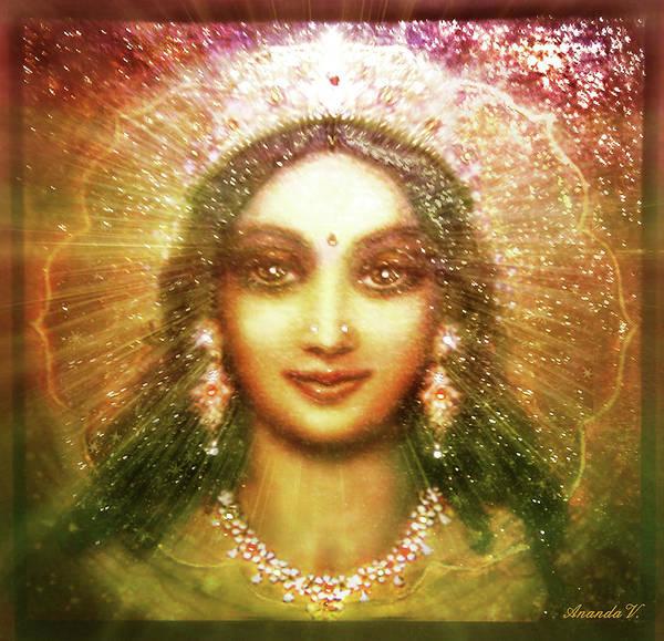 Wall Art - Mixed Media - Vision Of The Goddess  by Ananda Vdovic