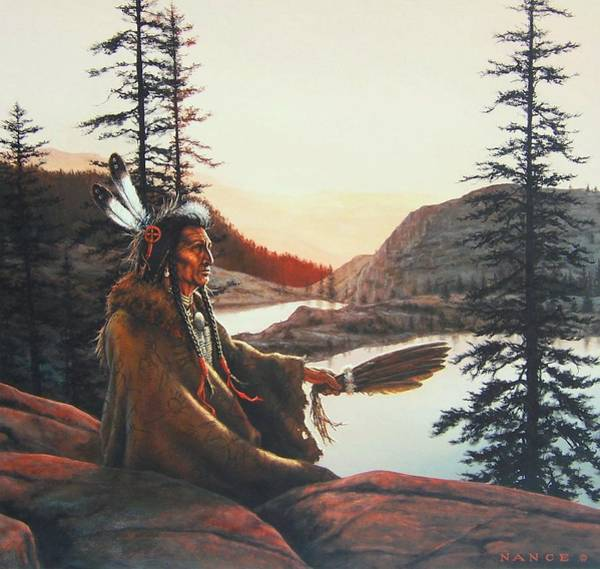 Native Painting - Vision Quest by Dan  Nance