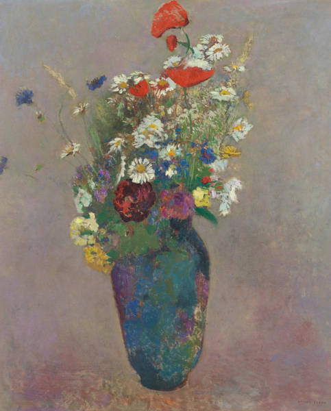 Painting - Vision Vase Of Flowers  by Odilon Redon