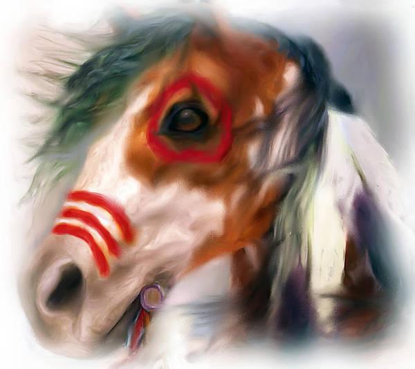 Digital Art - Visionary War Horse by Barbara A Lane