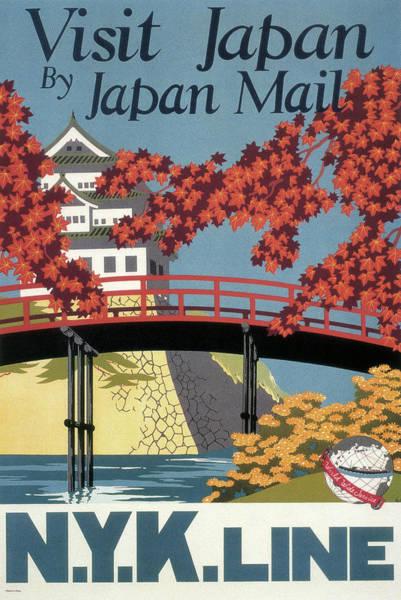 Wall Art - Photograph - Visit Japan By Steamship  1929 by Daniel Hagerman