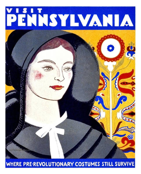 Tradition Painting - Visit Pennsylvania, Travel Poster by Long Shot