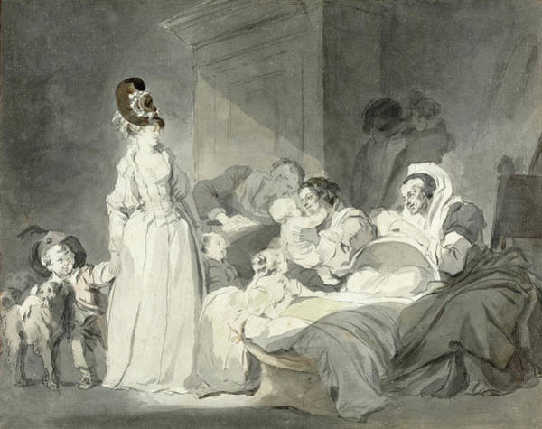 Painting - Visit To The Nurse by Jean-Honore Fragonard