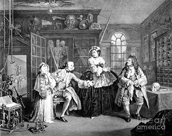 Mistress Photograph - Visit To The Quack Doctor, 1745 by Science Source