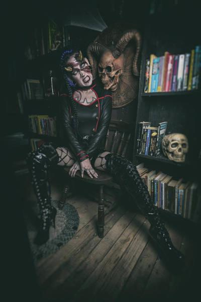 Evie Photograph - Visit With Satan by CJ Schmit