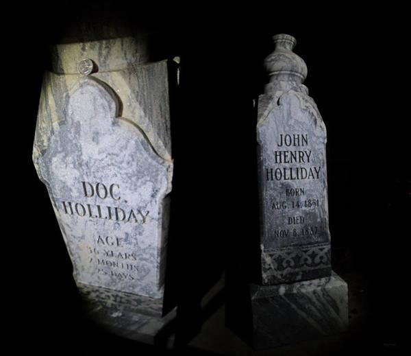 Grave Yard Photograph - Visiting Doc Holliday 12 24 Am by Betsy Knapp