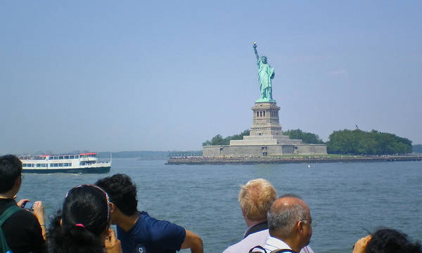 Photograph - Visiting Lady Liberty by David Coblitz