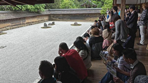 Photograph - Visitors At A Rock Garden, Kyoto 2014 by Chris Honeyman