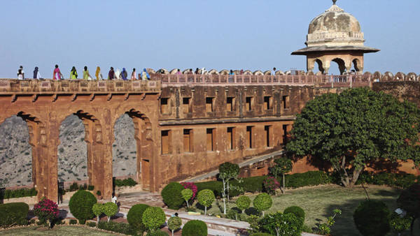 Photograph - Visitors At Jaigarh Fort, Jaipur 2007 by Chris Honeyman
