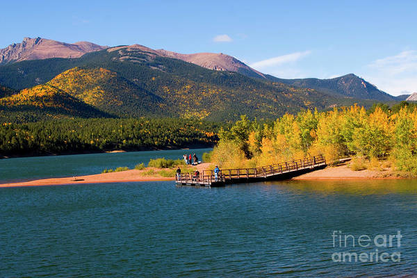 Photograph - Visitors At Pikes Peak And Crystal Reservoir by Steve Krull