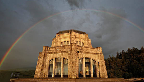 Photograph - Vista House Rainbow by Wes and Dotty Weber