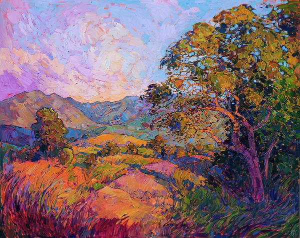 Wine Country Painting - Vista Oak by Erin Hanson