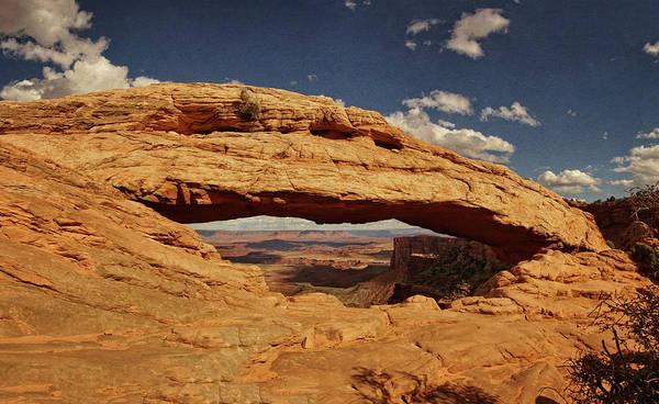 Photograph - Vista Through Mesa Arch Txt by Theo O'Connor