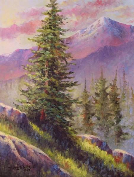Wall Art - Painting - Vista View by David G Paul