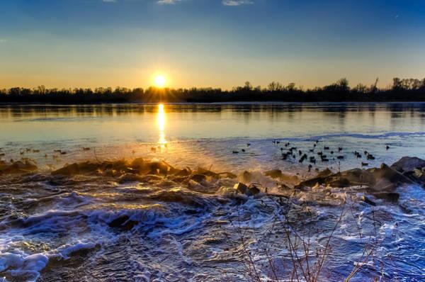 Photograph - Vistula River Sunset 3 by Tomasz Dziubinski