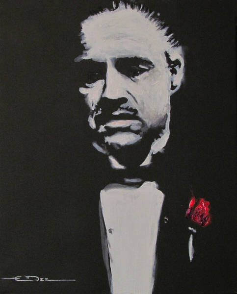 Painting - Vito Andolini Corleone by Eric Dee