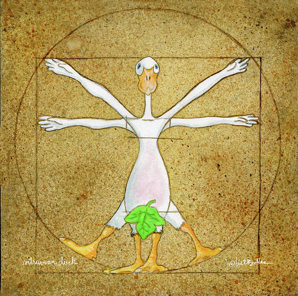 Painting - Vitruvian Duck by Will Bullas