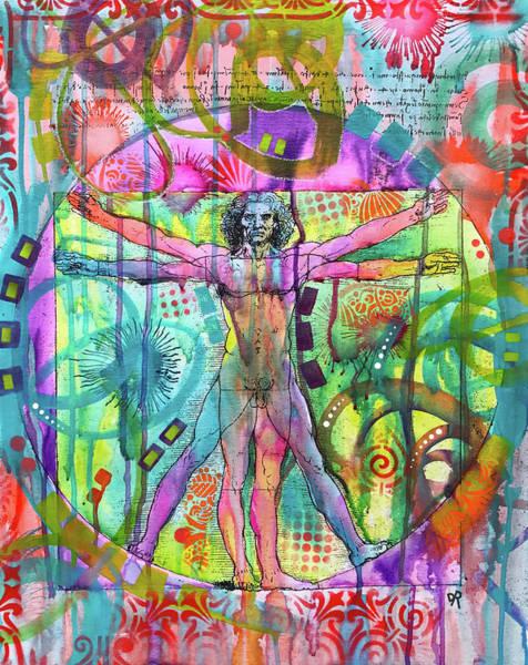 Painting - Vitruvian Man by Dean Russo Art
