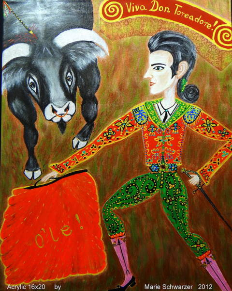 Interaction Painting - Viva Don Toreadore by Marie Schwarzer