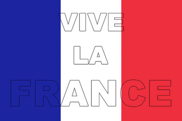Francaise Digital Art - Viva La France Flag by Roy Pedersen