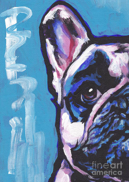French Bulldog Painting - Viva La Frenchie  by Lea S