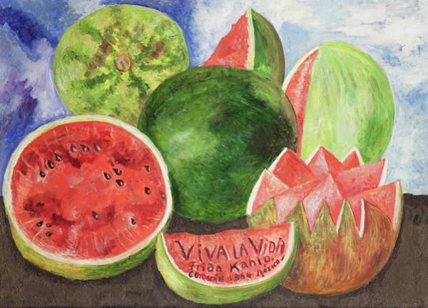 Wall Art - Painting - Viva La Vida by Frida Kahlo