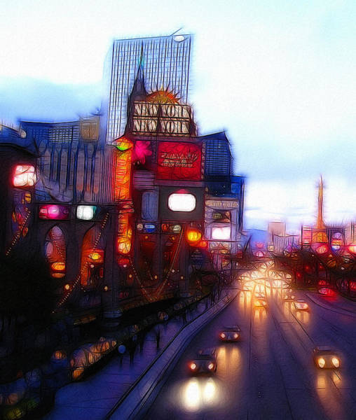 Abstract Expressionism Digital Art - Viva Las Vegas Painting by Steve K