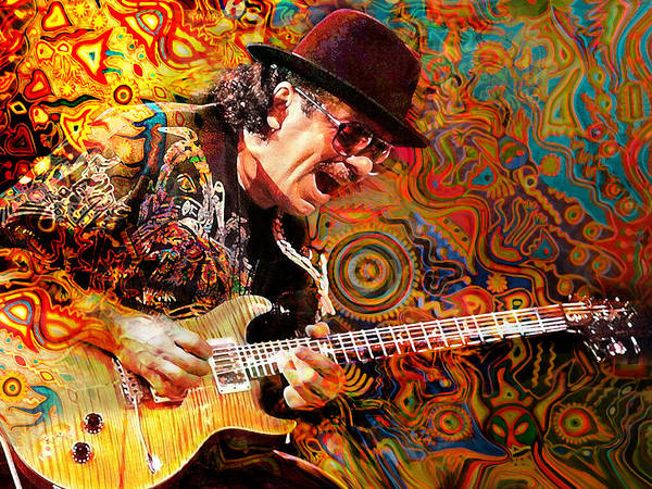 Wall Art - Digital Art - Viva Santana by Mal Bray