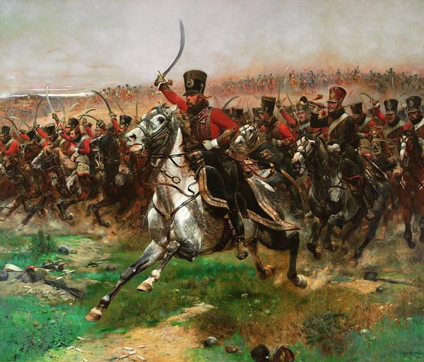 Irregular Painting - Vive L'empereur by Jean Baptiste Edouard Detaille
