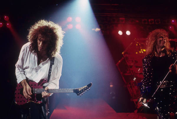 Photograph - Vivian Campbell And David Coverdale by Rich Fuscia
