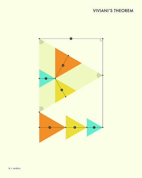 Geometry Digital Art - Viviani's Theorem by Jazzberry Blue