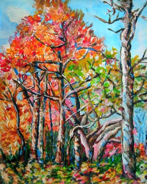 Wall Art - Painting - Vivid Autumnscape by Laura Heggestad