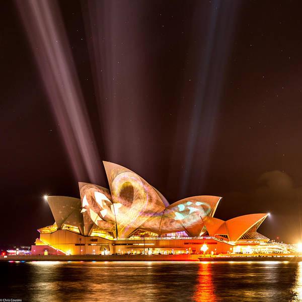 Wall Art - Photograph - Vivid Opera House by Chris Cousins