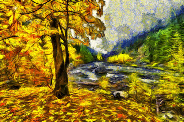 Fall Colors Digital Art - Vivid Pipeline Trail by Mark Kiver