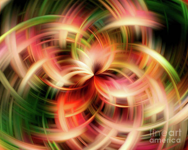 Digital Art - Vivid Red And Green Passion by Smilin Eyes  Treasures