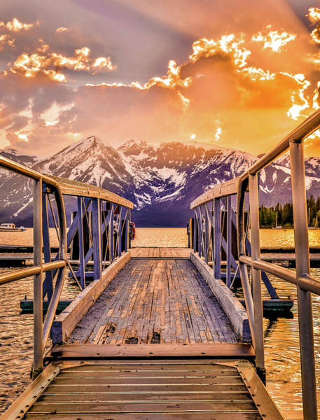 Photograph - Vivid Sunset On Jackson Lake by Dan Sproul