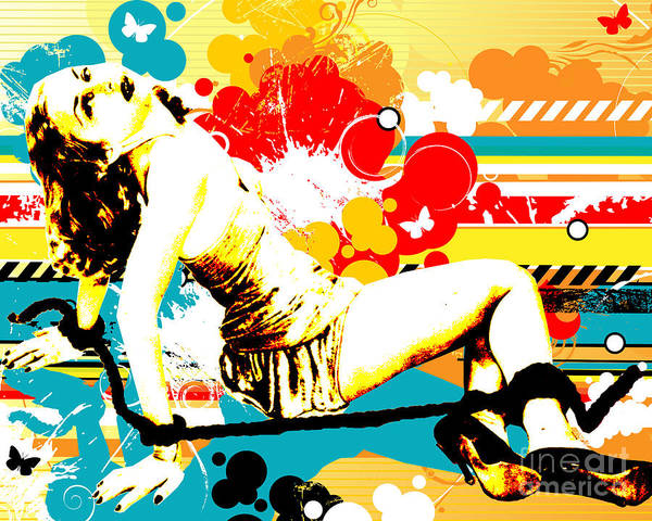 Indie Wall Art - Digital Art - Vixen Subdued by Chris Andruskiewicz