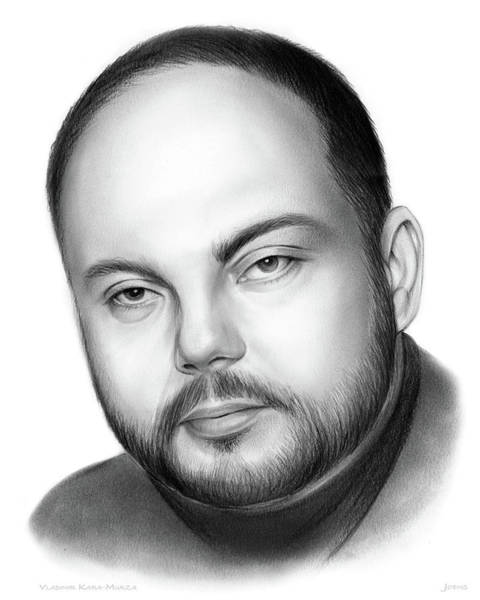 Russia Wall Art - Drawing - Vladimir Kara-murza  by Greg Joens