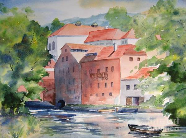 Vlatava Mill Art Print