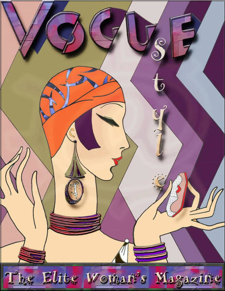 Digital Art - Vogue 5 by Chuck Staley