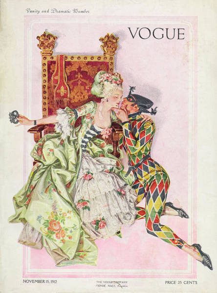 Floral Photograph - Vogue Cover Featuring An Eighteenth Century by Frank X Leyendecker