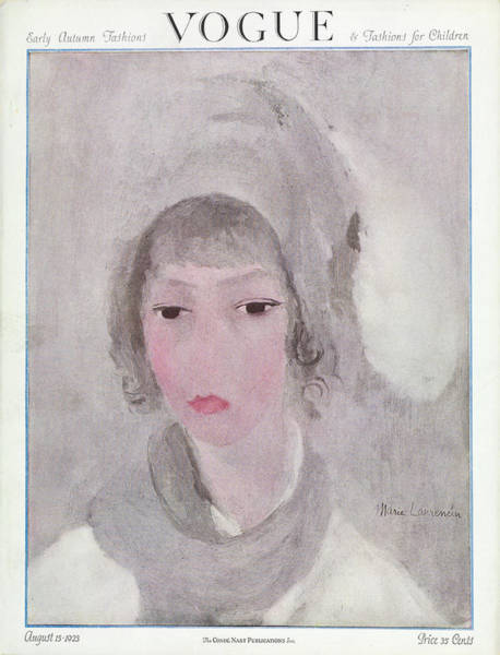 1923 Photograph - Vogue Cover Featuring The Portrait Of A Woman by Marie Laurencin
