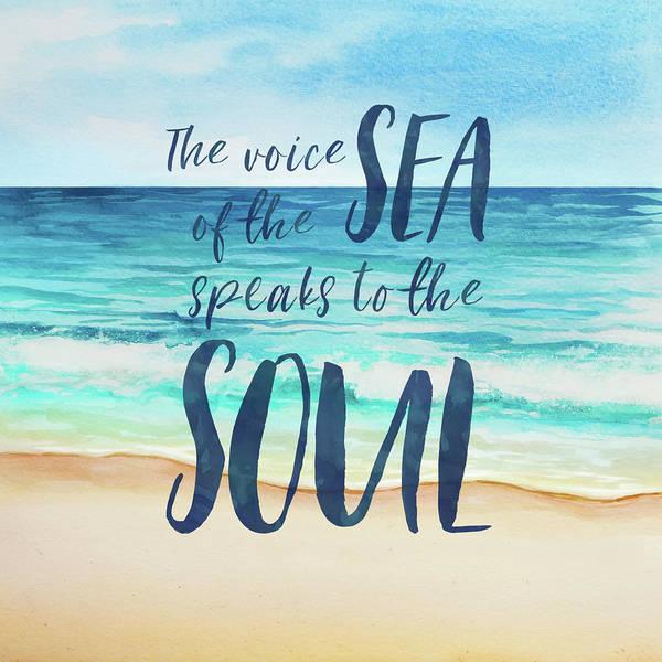 Sunny Mixed Media - Voice Of The Sea by Amanda Lakey