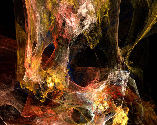 Gestural Digital Art - Voids by Ruth Palmer